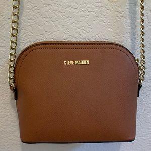 Steve Madden BMaggie Cognac Dome Handbag Crossbody